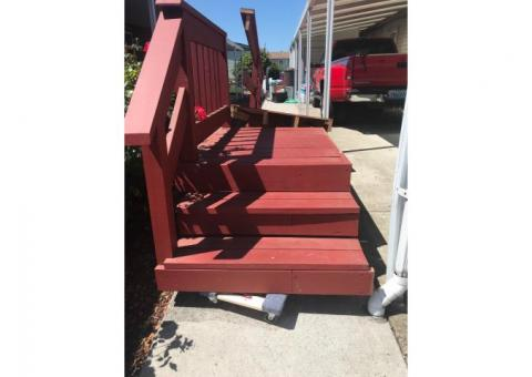 Wheel chair ramp and porch