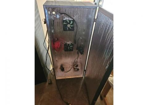Hydroponic grow cabinets.