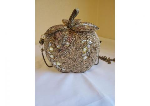 Mary Frances Apple Beaded Purse